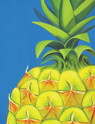 Painting - Pineapple by Laura Dozor