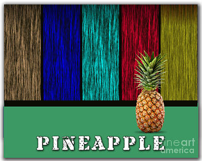 Pineapple Art Print by Marvin Blaine
