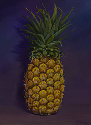 Pineapple Merlot Art Print