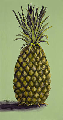Painting - Pineapple On Green by Darice Machel McGuire