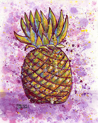 Painting - Pineapple Party by Darice Machel McGuire
