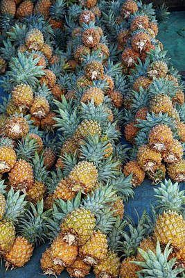 Pineapple Stall At Suva Municipal Art Print by David Wall