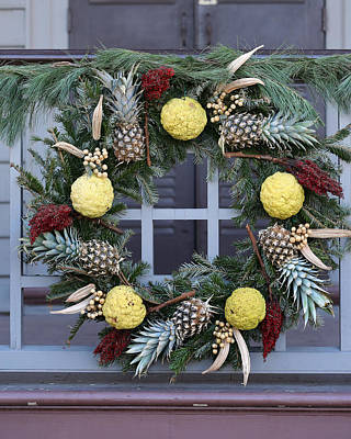 Photograph - Pineapple Wreath by Pete Federico