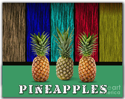 Pineapple Mixed Media - Pineapples by Marvin Blaine