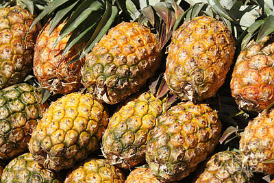 Photograph - Pineapples On The Market by Rudi Prott