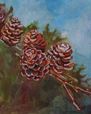 Pinecones Art Print by Suzanne Tynes