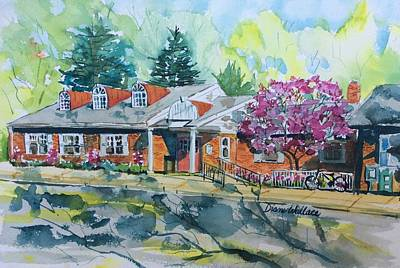 . Pinelands Painting - Pinelands Library Medford Nj by Diane Wallace