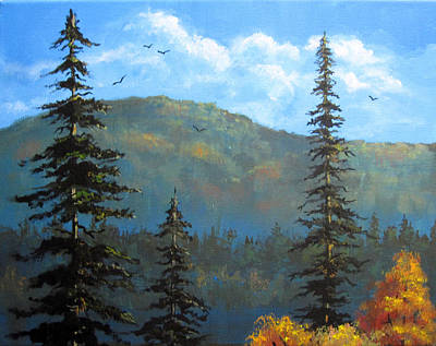 Painting - Pines 2 by Carol Hart
