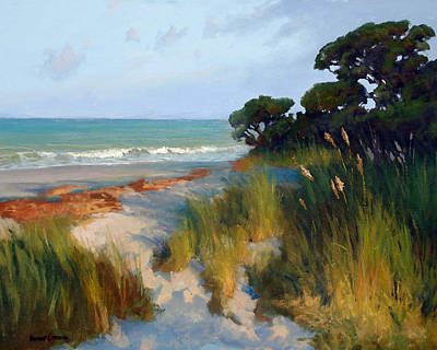 St. Simons Island Painting - Pines And Sea Oats by Armand Cabrera