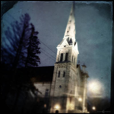 Photograph - Pines And Steeple by Tim Nyberg