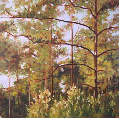 Pines Art Print by Carlynne Hershberger
