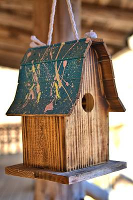 Photograph - Pinewood Birdhouse by Gordon Elwell