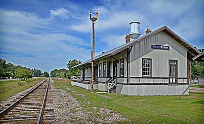 Photograph - Pinewood Depot by Linda Brown