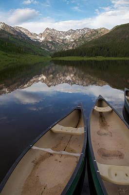 Thomas Kinkade Rights Managed Images - Piney Lake Royalty-Free Image by Aaron Spong