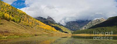 Gore Range Photograph - Piney Lake Panorama by Benjamin Reed