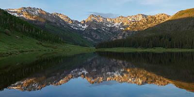 Photograph - Piney Lake Sunset Panorama by Aaron Spong