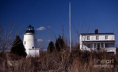 Beach Photograph - Piney Point Lighthouse by Skip Willits