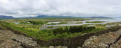 Photograph - Pingvellir Thingvellir Iceland Panorama by Matthias Hauser