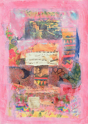 Music Score Photograph - Pink, 1999 Mixed Media by Nissan Engel