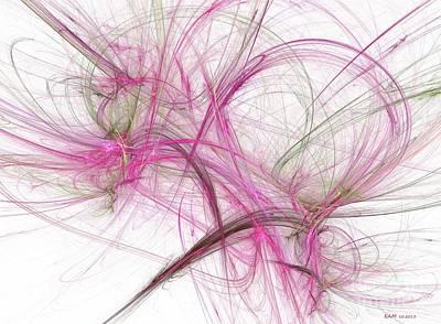 Fractal Digital Art - Pink 2 by Elizabeth McTaggart