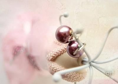 Earring Set Photograph - Pink 2 by Katerina Vodrazkova