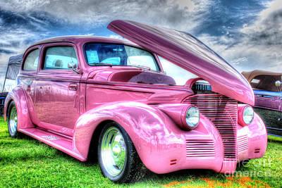39 Ford Photograph - Pink 39 by Linda Arnado