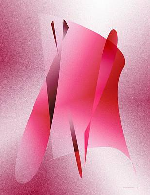Pink Abstract Art Print by Mario Perez