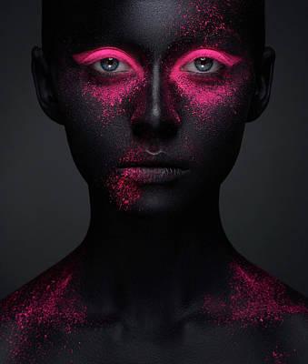 Glitter Photograph - Pink by Alex Malikov