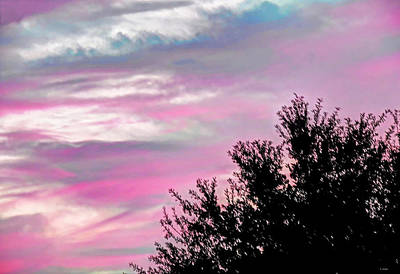 Photograph - Pink And Blue Abstract Sky by Cathy Jourdan