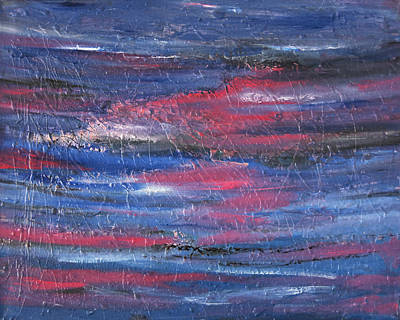 Painting - sold Pink and Blue Dreamscape Abstract oil painting by Renee Anderson