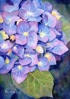 Painting - Pink And Blue by Victoria Lisi