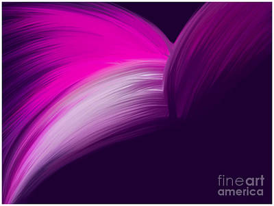 Pink And Purple Curves Art Print