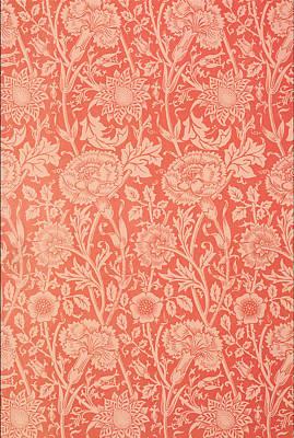 Pink And Rose Wallpaper Design Art Print by William Morris