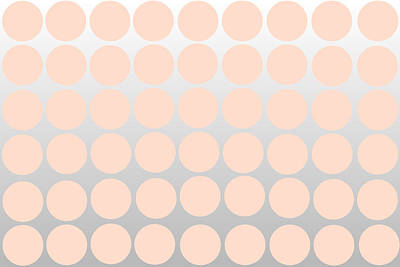 Toss Digital Art - Pink And Silver Ombre Polka Dots by Chastity Hoff