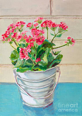 Painting - Pink And Turquoise by Lucy Chen