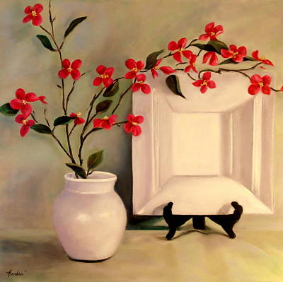 Painting - Pink And White by Anne Barberi