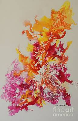 Painting - Pink And Yellow Coral by Lyn Olsen