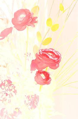 Digital Art - Pink And Yellow by Kara  Stewart