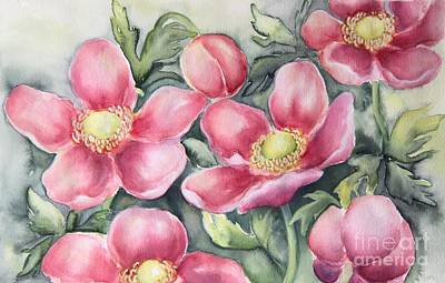 Painting - Pink Anemones by Inese Poga