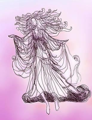 Digital Art - Pink Angel by Ginny Schmidt