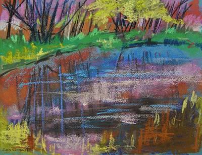 Jmw Drawing - Pink At Sunset by John Williams