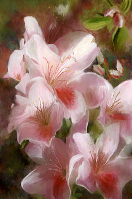 Steele Painting - Pink Azalea by Noel Steele