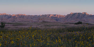 Photograph - Pink Badlands Morning by Dakota Light Photography By Dakota