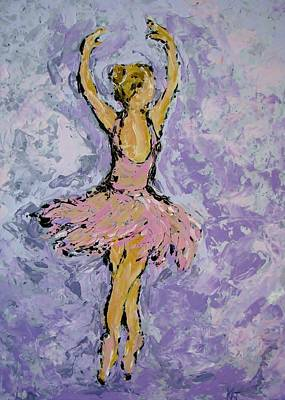Painting - Pink Ballerina by Kat Griffin