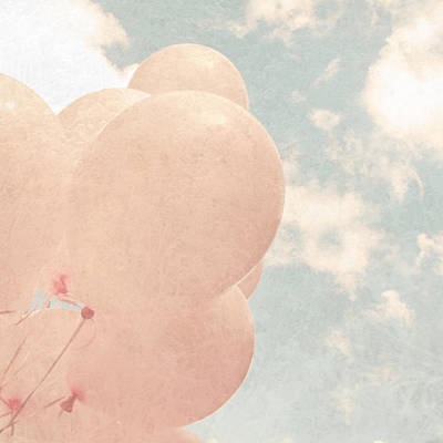 Breast Cancer Photograph - Pink Balloons Blue Sky by Brooke T Ryan