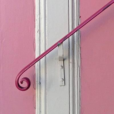 Pink Photograph - Pink Bannister by Julie Gebhardt