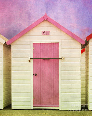 Photograph - Pink Beach Hut by Terri Waters