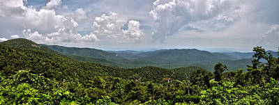 Art Print featuring the photograph Pink Bed On Blue Ridge Parkway by Allen Carroll
