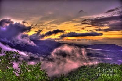 Richland County Photograph - The Blue Ridge Parkway Pink Beds Overlook 2 by Reid Callaway