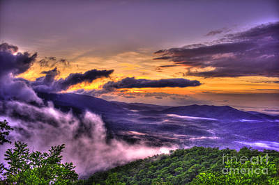Richland County Photograph - Blue Ridge Parkway's Pink Beds Overlook by Reid Callaway
